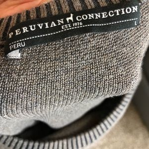 Peruvian Connection Sweaters - Peruvian Connection puma cotton sweater